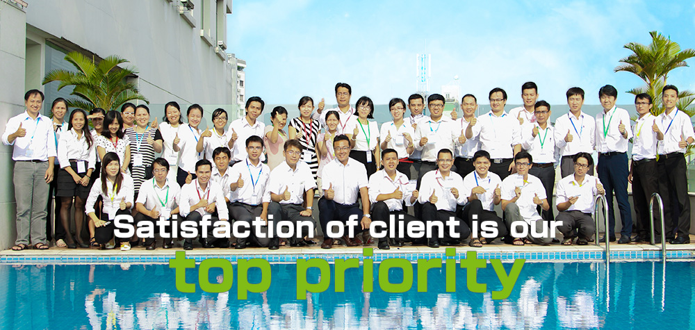 Satisfaction of client is our top priority